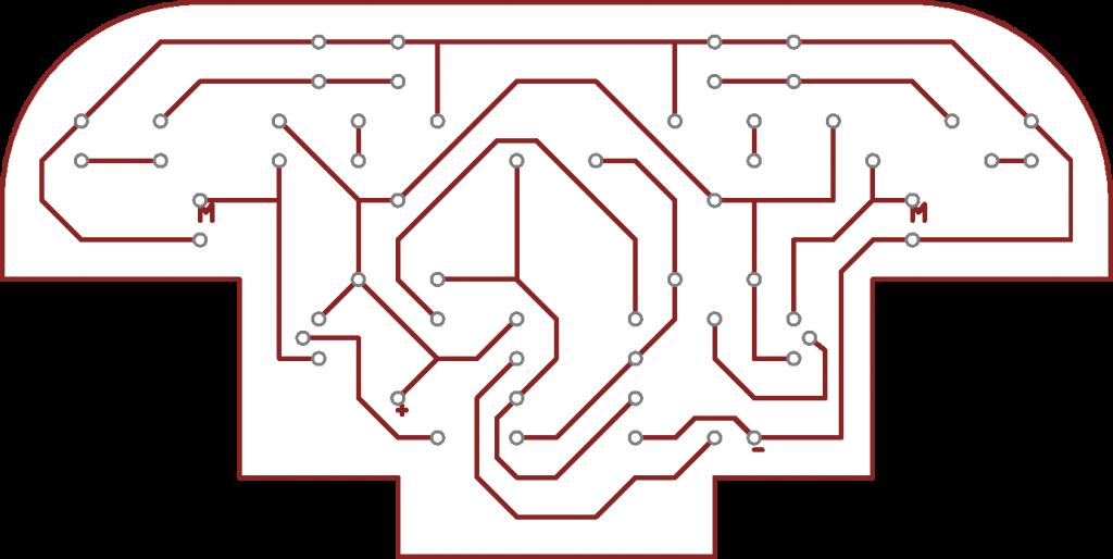 Sledovací autíčko layout desky plošných spojů