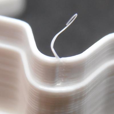 Stringování v poslední vrstvě výtisku - detail