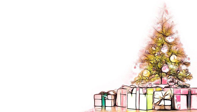 Vánoční stromeček a dárky