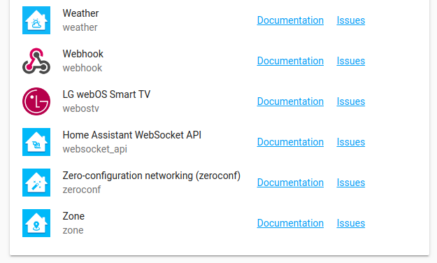 Home Assistant - dokumentace k integracím