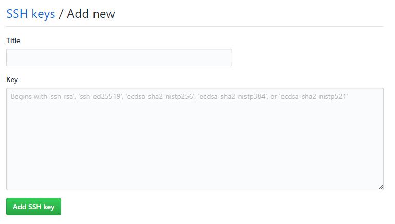 Vložení nového SSH klíče do GitHub