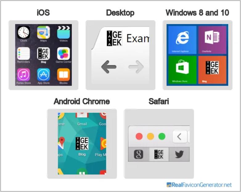 Nově vygenerované favikony pro všechny druhy zařízení a prohlížečů