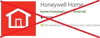 Mobilní aplikace Honeywell Home