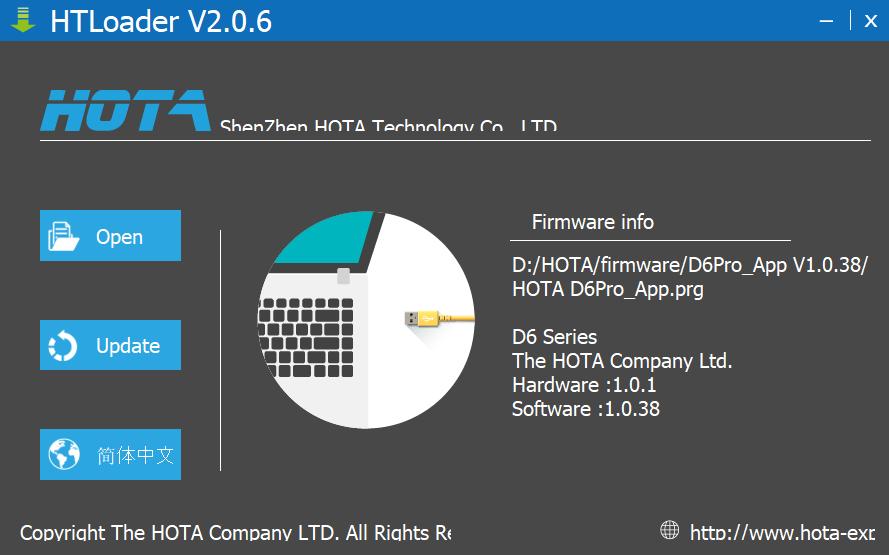 HOTA D6 pro - firmware update - Step 3